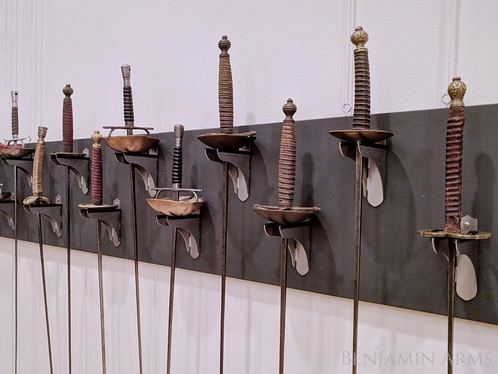 Museum Quality Fencing Sword Wall Mount Benjamin Arms